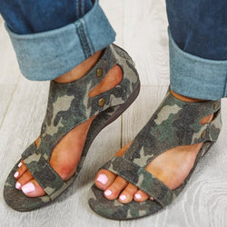 Women Casual Summer Gladiator Thong Wedge Sandals