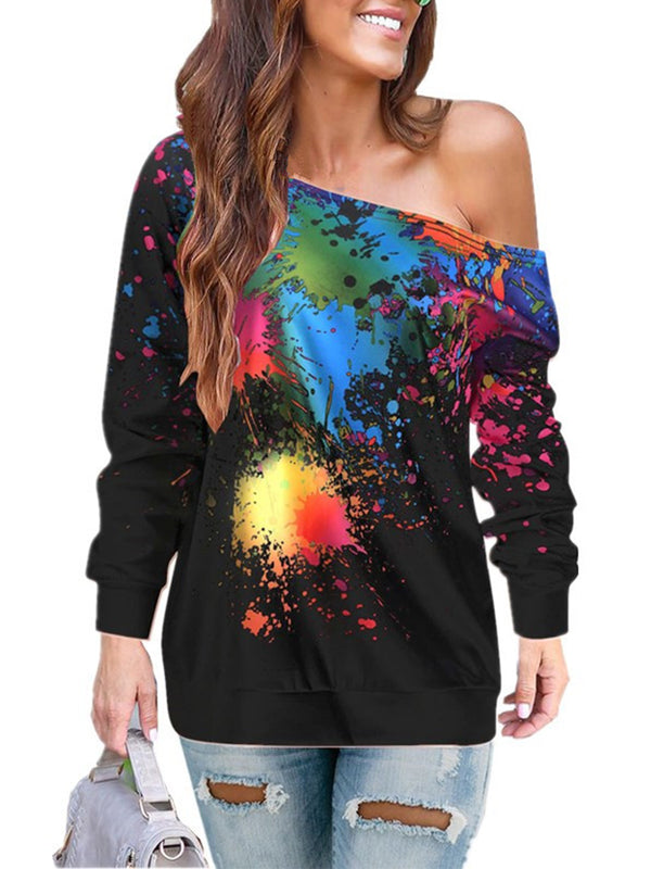 Tie-Dyed Long Sleeve Crew Neck T-Shirts