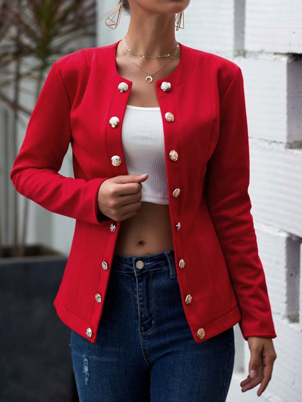 Long Sleeve Casual Buttoned Outerwear
