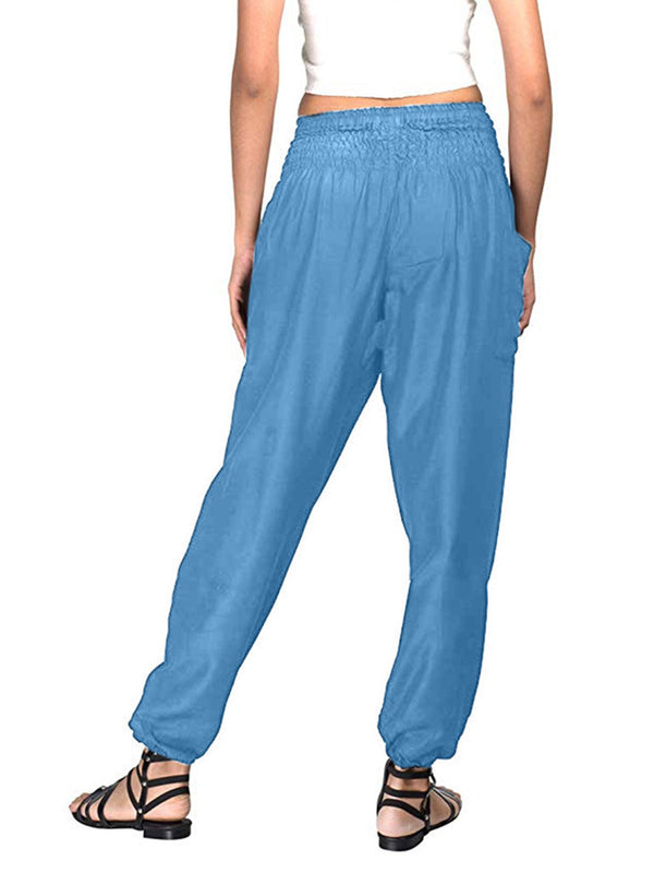 Plain Summer Daytime Casual Pants