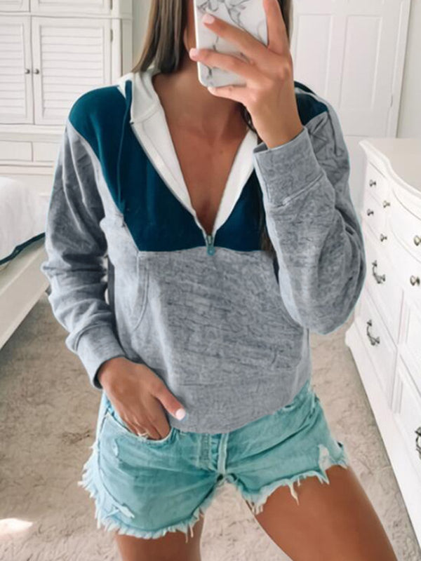 Hoodie Zipper Long Sleeve Casual Sweatshirt