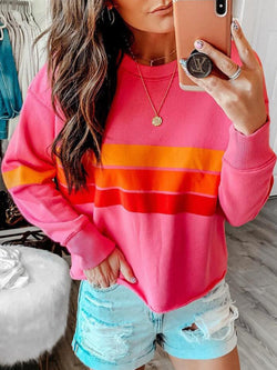 Crew Neck Casual Printed Long Sleeve Sweatshirt