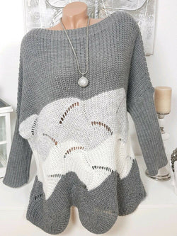 Crew Neck Casual Solid Sweater