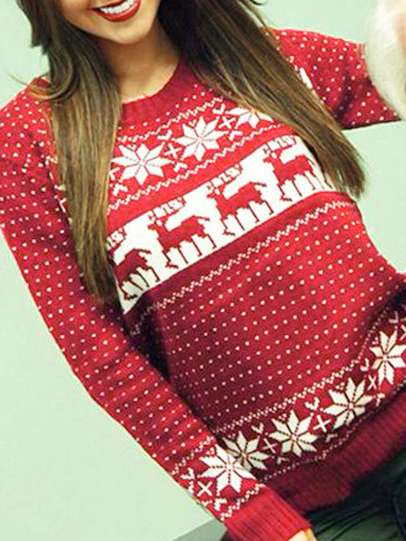 Xmas Simple & Basic Tribal Ugly Christmas Pullover Jumper Sweatshirts