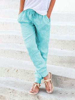 Solid Linen Pants