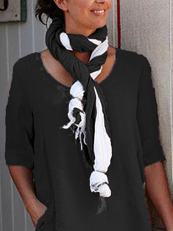 Casual Color-block Daily Scarf