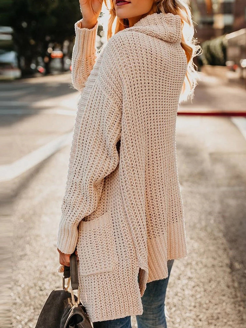 Knitted Long Sleeve Casual Cardigan