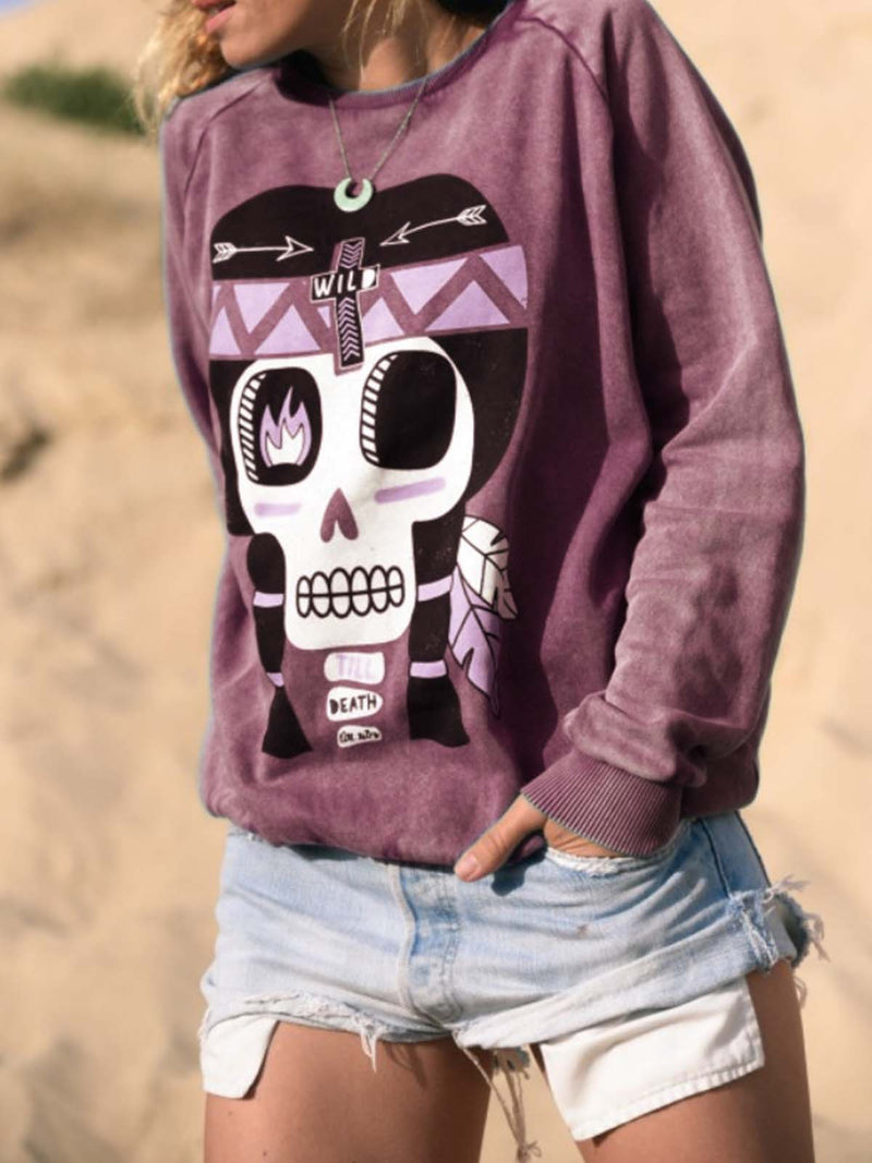 Printed Casual Long Sleeve Sweatshirts