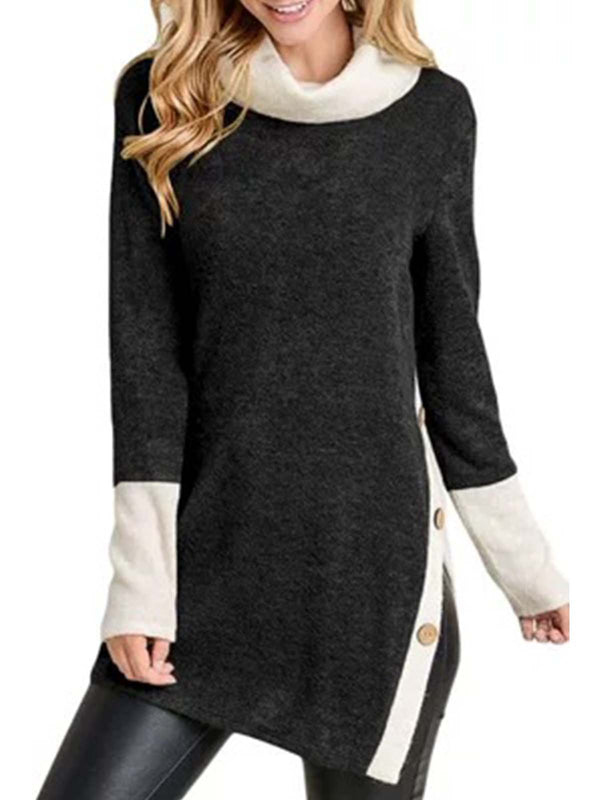 Long Sleeve Casual Cowl Neck SweatShirts