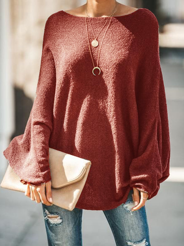 Round Neck Long Sleeve Shirts & Tops