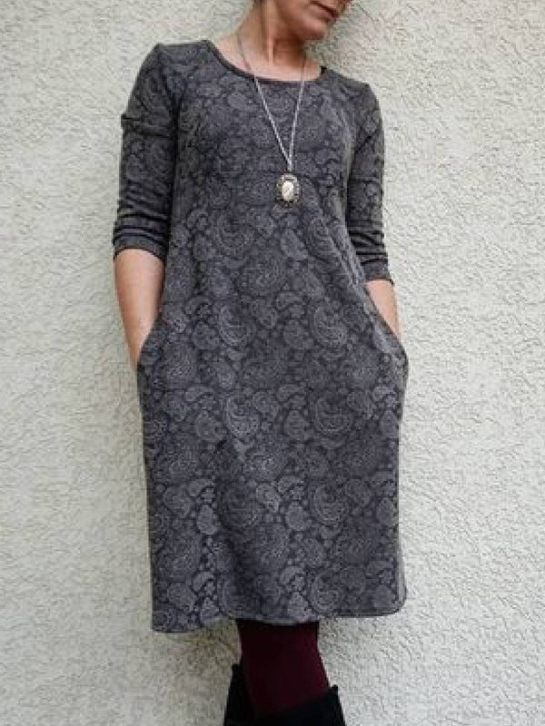Plus Size Casual Cotton-Blend Dresses