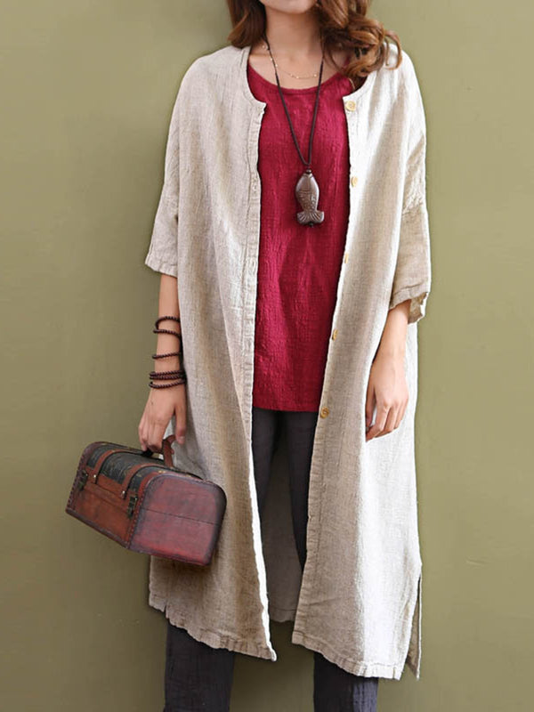 Women Casual Long Sleeve  Solid Cardigan