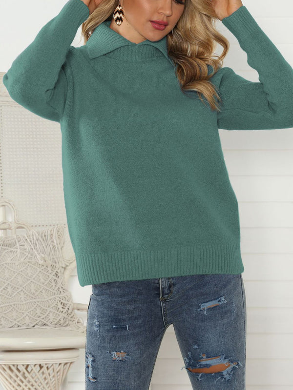 Knitted Casual Peter Pan Collar Sweaters