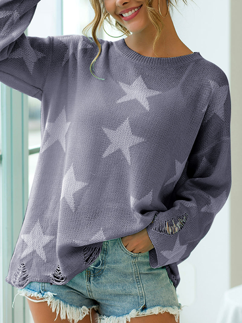 Long Sleeve Knitted Casual Sweaters