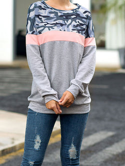 Long Sleeve Casual Crew Neck T-Shirts