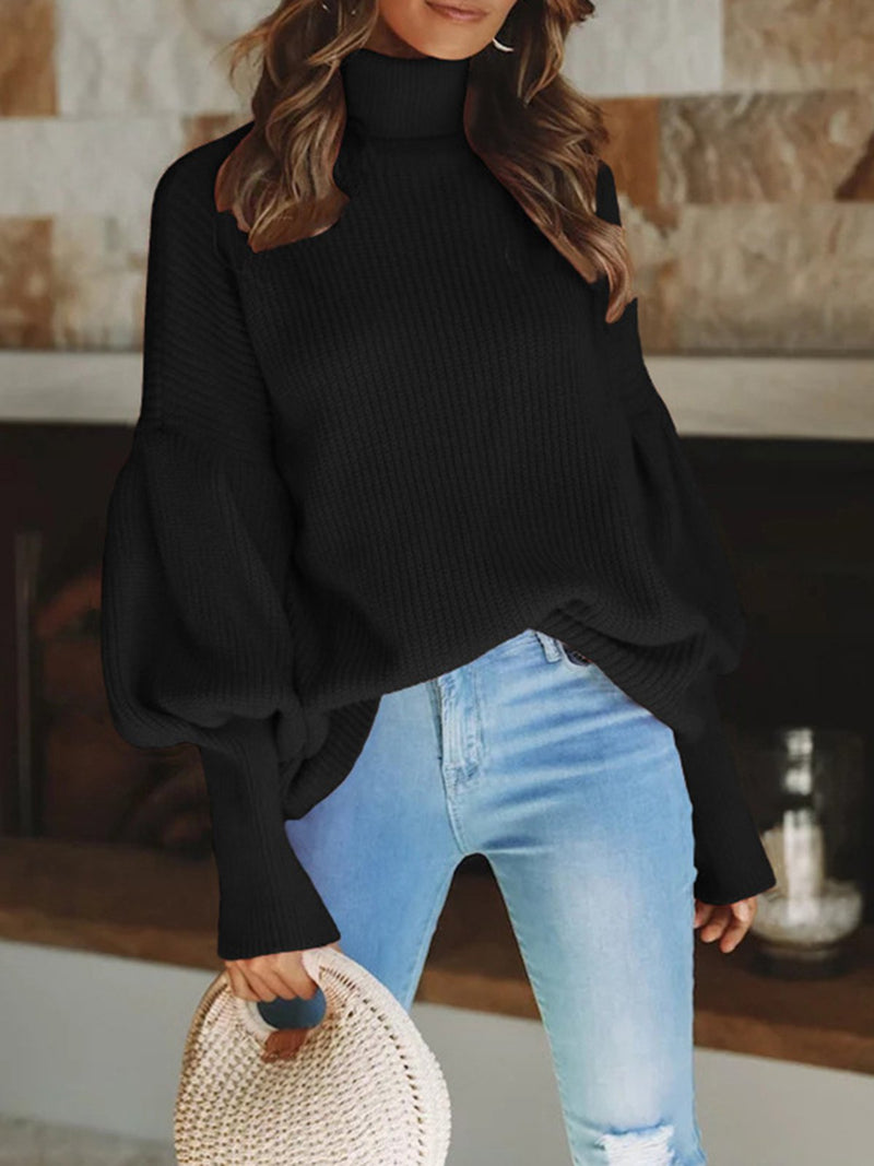 Knitted Solid Elegant Sweater