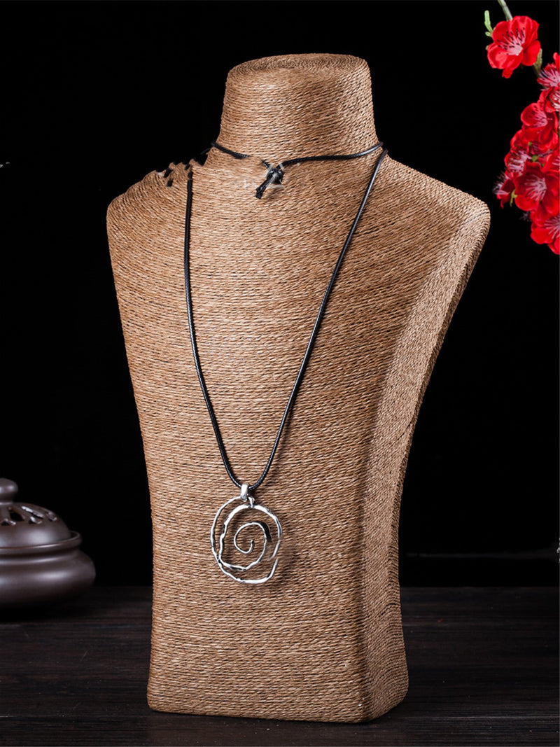 White Casual Alloy Paisley Women All Season Necklace