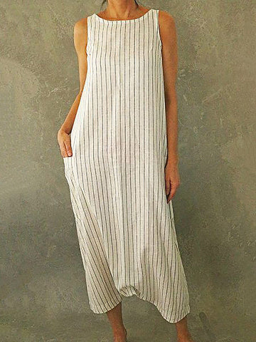 Casual Cotton Maxi Dress