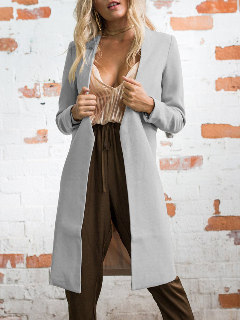 Winter Solid Color Long Coat