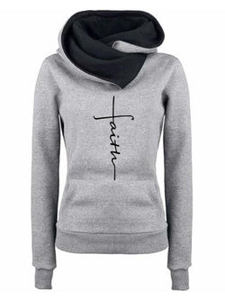 Letter-Printed Pockets Casual Color-Block Hoodies