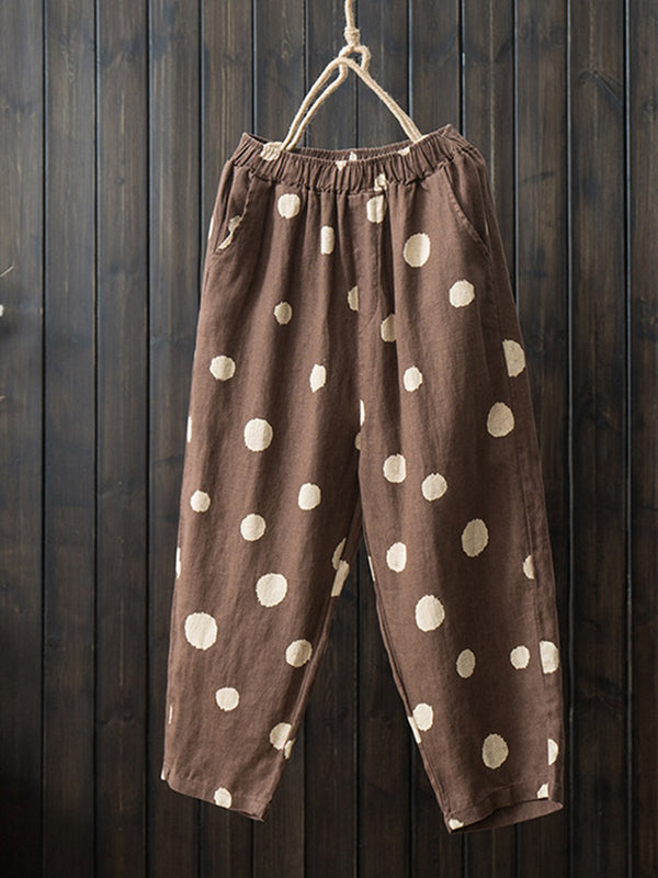 Cotton-Blend Casual Pants