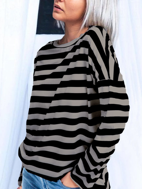 Stripes Long Sleeve Shirts & Tops
