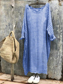 Simple & Basic Cotton-Blend Maxi Dress