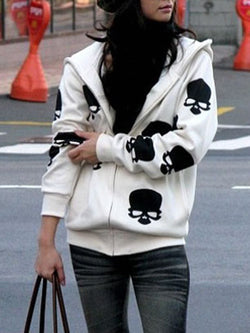 Long Sleeve Hoodie Casual Animal Cotton Hoody