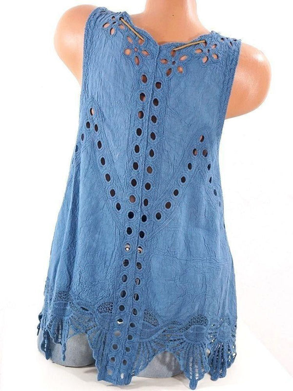 Summer Laciness Sleeveless Sweet Tank