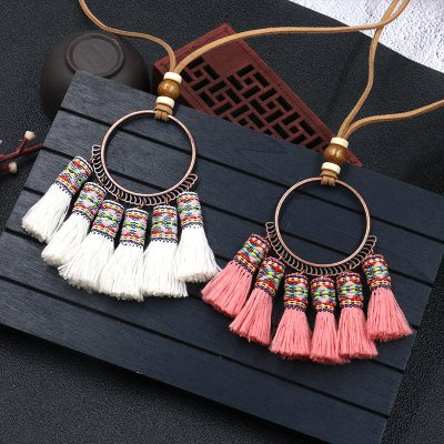 Vintage Boho Alloy Sweater Pendants