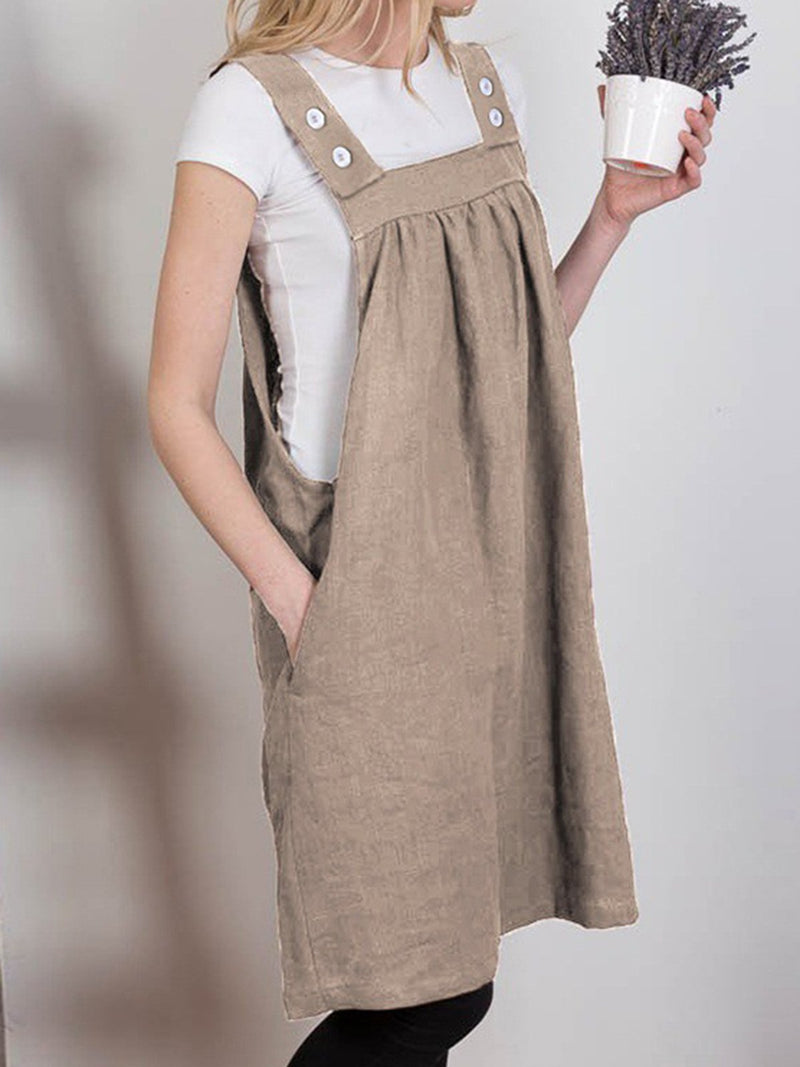 Spaghetti Apron Pinafore Casual Dress
