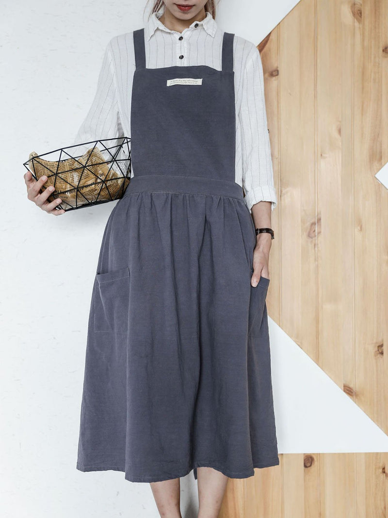 Casual Sleeveless Spaghetti Shift Gathered Dress