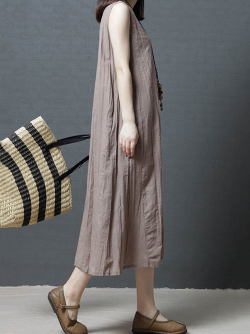 Dress - Shift Sleeveless Women Dress