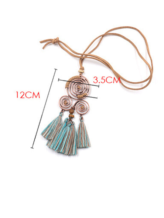 Daily/Beach Women's Clothes Chain Boho Tassel Long Necklace
