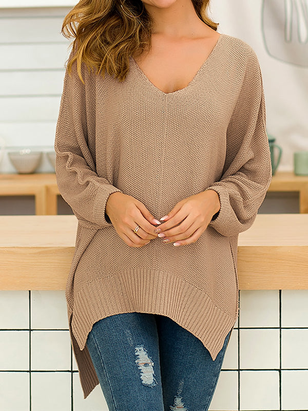 High Low Hem Knitted Sweaters