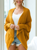 Casual Plain Knitted Batwing Plus Size Cardigan