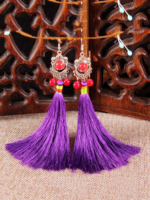 Fashion  Women Round Alloy Earrings