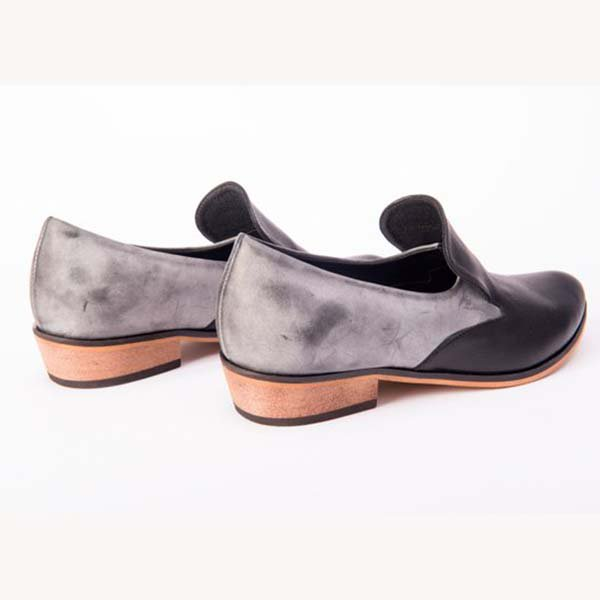 36cd06af89d zoesweet Women s Loafers Black Casual Round Toe Color Block Low Heel ...