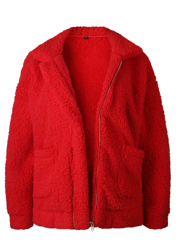 Fluffy Warm Winter Zipper Coat