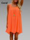 High Low Women Daily Basic Spaghetti Summer Dress