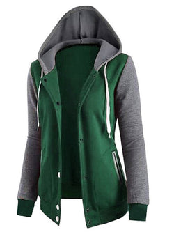 Long Sleeve Casual Zipper Hoodie Coat