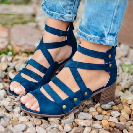 Women's Faux Suede Lace-up Sandals