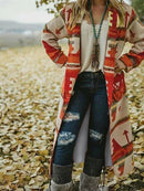 Cotton Tribal Long Sleeve Outerwear