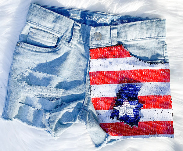 Americana denim shorts