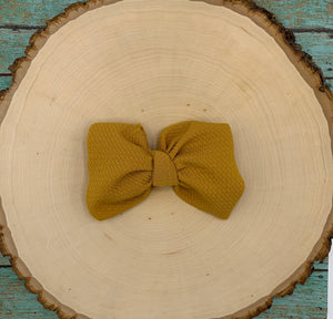 Monogram Skinny Bow on Clip
