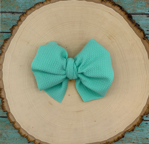 Monogram Big Bow on Clip