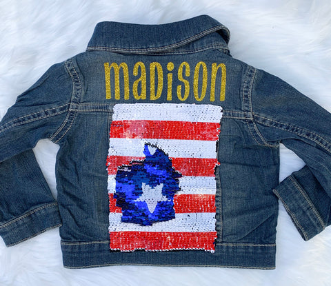 Stars and Stripes denim jacket