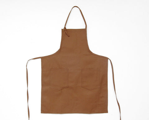 Cloth Strap Apron - Caramel
