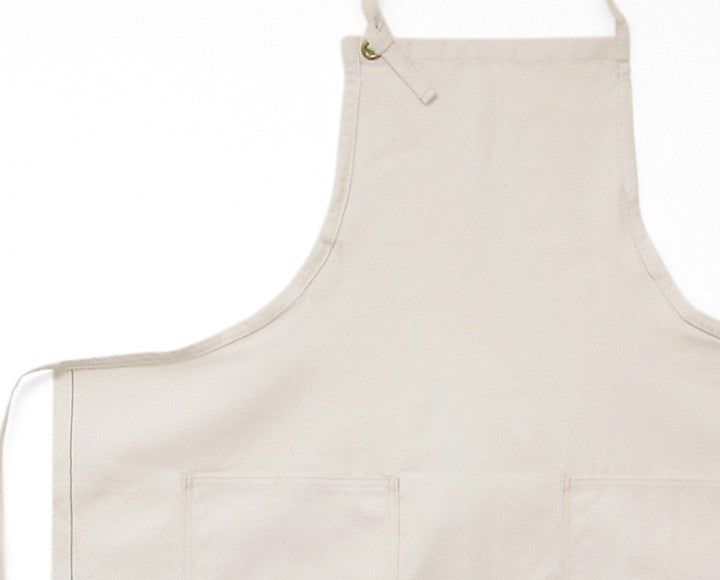 Cloth Strap Apron - Natural