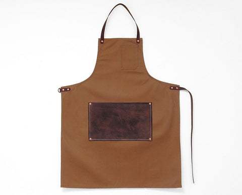 Leather Lap Apron - Camel